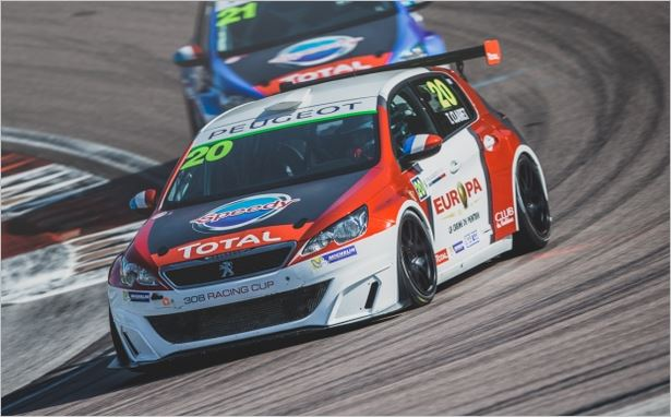 Teddy Clairet pulls clear in the 308 Racing Cup