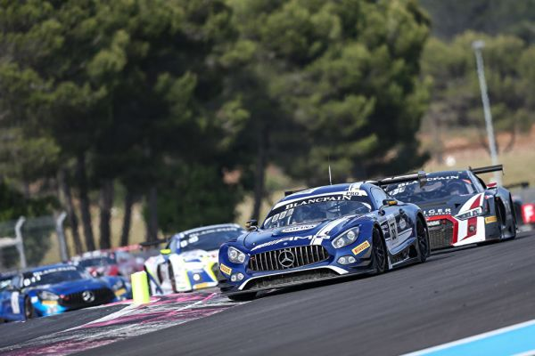 Four Mercedes-AMG GT3 in the top ten and three class podium finishes at Paul Ricard