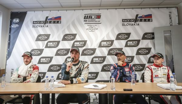 WTCR Race of Slovakia press conference after race 1