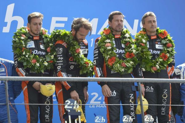 24h Le Mans 2018 Race finish and podium photos R. Scholer