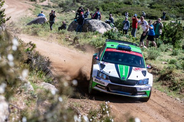 WRC2 standings in Rally Italia Sardegna
