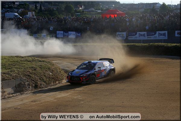 Thierry Neuville leads after dramatic Portugal Rally opening day
