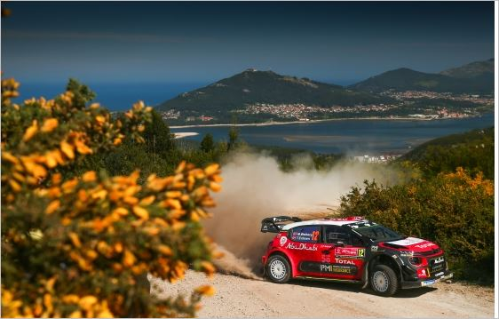 The Citroen C3 WRCs big on pace but short on luck in Portugal