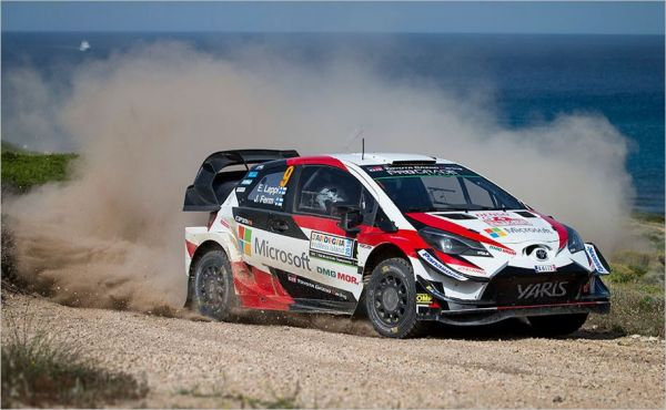 Lappi and TOYOTA GAZOO Racing on the podium in Sardinia