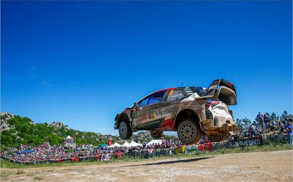 TOYOTA GAZOO Racing still holding third in Sardinia