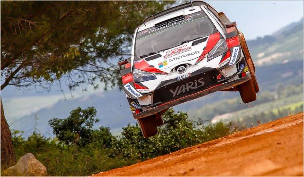 Latvala and Lappi fighting for the podium in Sardinia