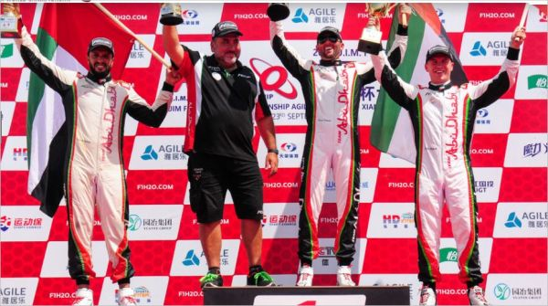Shaun Torrente heads up an all Team Abu Dhabi podium in Xiangyang F1H2O