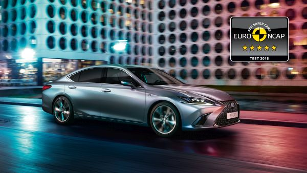 All new Lexus ES among the safest cars ever tested by Euro NCAP