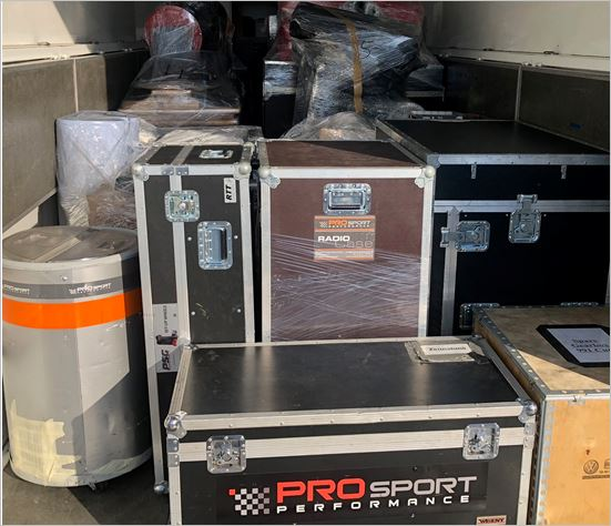 PROsport Performance:  Eleven tons of material for the 24h races in the US and in Dubai