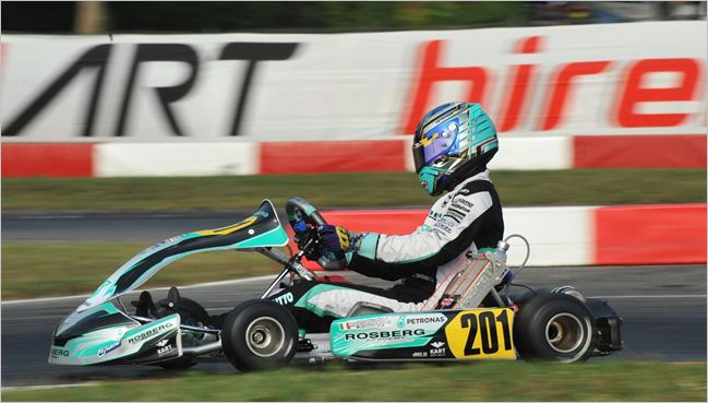 Qualifying heats at the WSK Final Cup in Lonato (I)