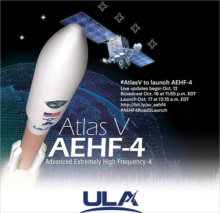 United Launch Alliance Set to Launch AEHF-4 for U.S. Air Force