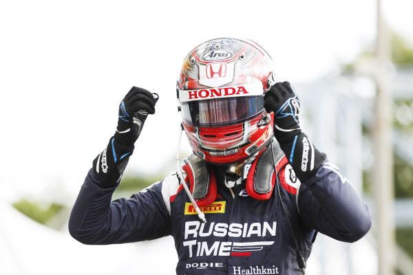 Tadasuke Makino  powers to magical Monza F2 Feature Race victory