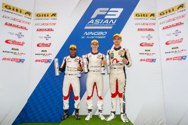 F3 Asian Championship Ningbo race results and standings