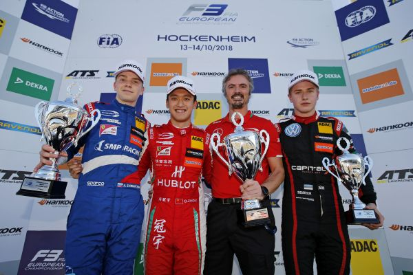 Robert Shvartzman is the new rookie champion, FIA F3 title race remains open
