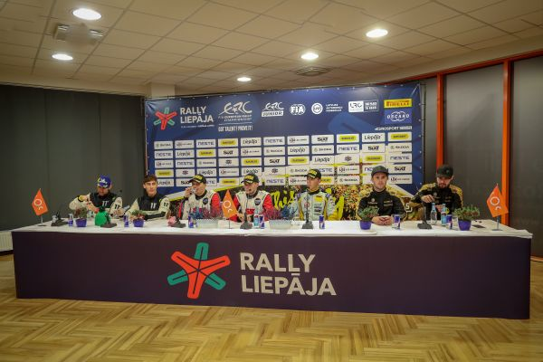ERC Rally Liepaja post event press conference