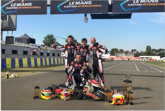 Alex Irlando won the 24 Hours of Le Mans Karting
