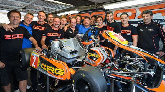 The CRG SpA team launches the 2018 24 H Karting battle with pole position