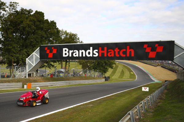 Spectacular Honda Mean Mower V2 takes on legendary Brands Hatch