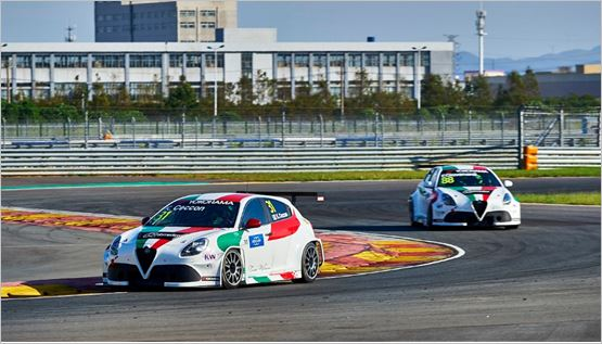 The Alfa Romeo Giulietta TCR by Romeo Ferris ready for the Wuhan challenge