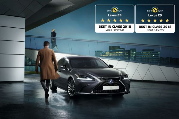 "All new LEXUS ES is Europe safest ""large family car"" and ""hybrid and electric"" car"