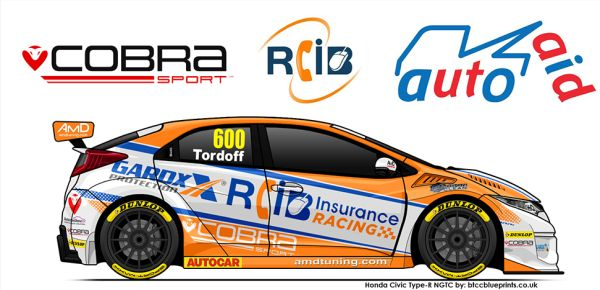 Tordoff joins Cobra Sport AmD with AutoAid/RCIB Insurance Racing for 2019 BTCC campaign