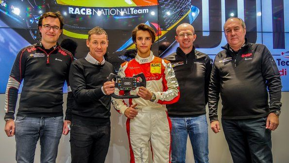 Gilles Magnus wins RACB talent competition at Audi Sport