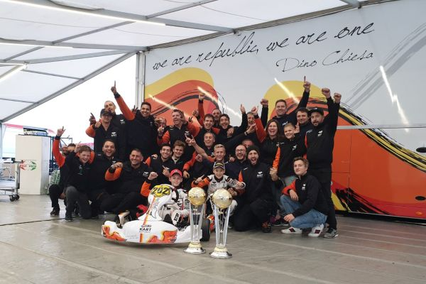 Marcus Amand, Junior Karting driver, well-deserved victory for the driver