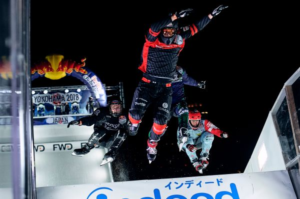 Naasz wins the Golden Jubilee Red Bull Crashed Ice in Asian Debut