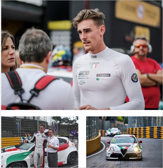 Kevin Ceccon barely missed podium in Macau debut