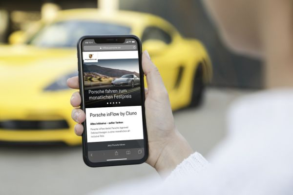 Porsche cooperation with car subscription provider Cluno