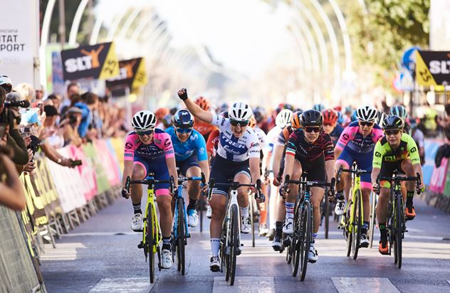 Lotta Lepistö wins stage two at the Setmana Ciclista Valenciana