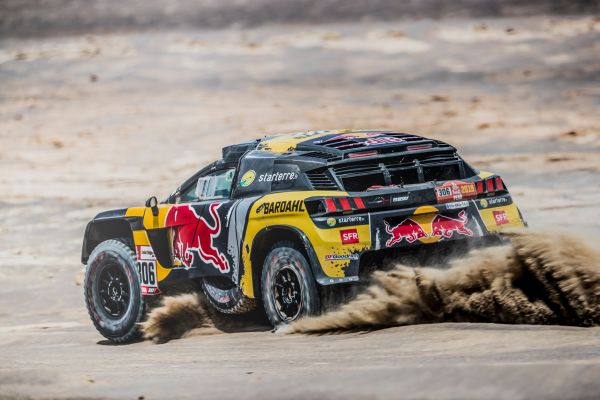 Dakar SS10 Loeb and Roma in the top 3
