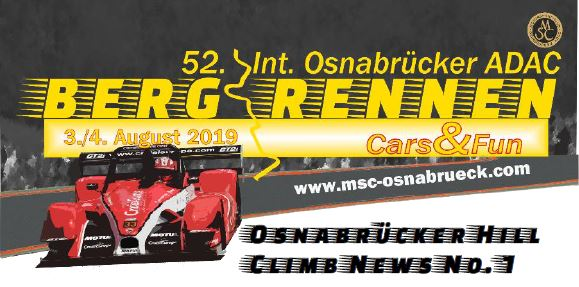 Ticket sales for the Int. 52nd Hill Climb Race Osnabrück now open