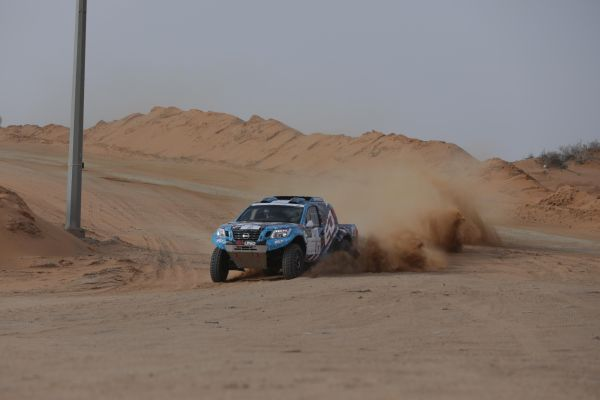 Khalid Al-Feraihi leads after opening Ha'il Nissan Rally desert stage