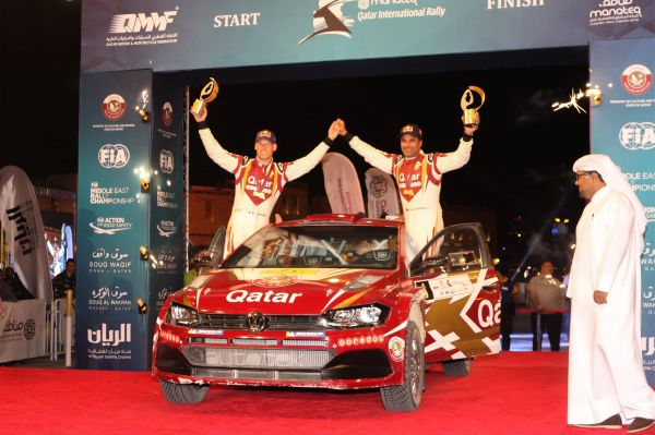 Al-Attiyah celebrates first victory with the Polo GTI R5 in Qatar