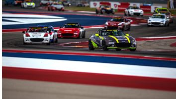 Rollan Rebounds for Global Mazda MX-5 Cup Race Two Win at COTA