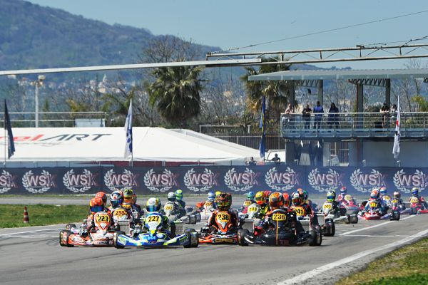 300 drivers in the 4th round of WSK Super Master Series in Sarno