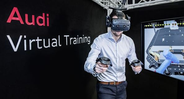 Audi - With virtual reality into the electric era