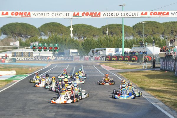 The challenge for the victory in WSK Super Master Series is on at Muro Leccese.