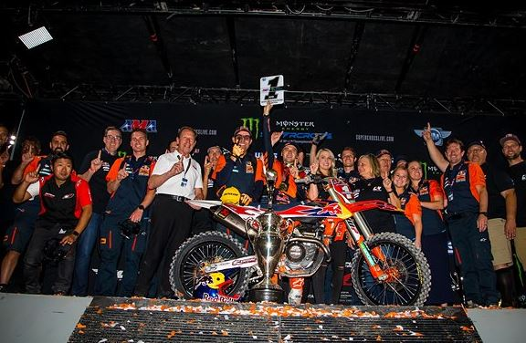 Red Bull KTM's Cooper Webb becomes first time 450SX Champion at Las Vegas SX Finale