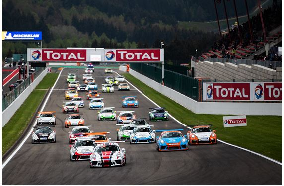 Derdaele and Hartog shine on the Spa-Francorchamps circuit in Porsche Carrera Cup Benelux