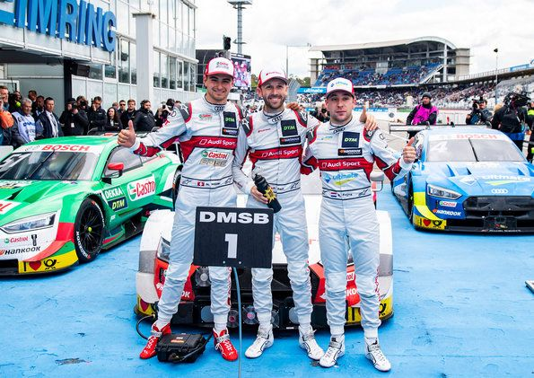 One-two-three for Audi, runaway success for René Rast