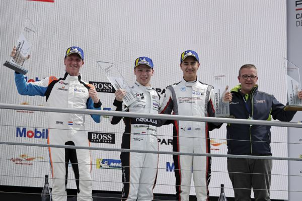 Larry ten Voorde kicks off the season with a double Porsche Carrera victory