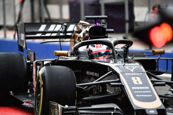 Rich Energy Haas F1 Bahrain test day 2