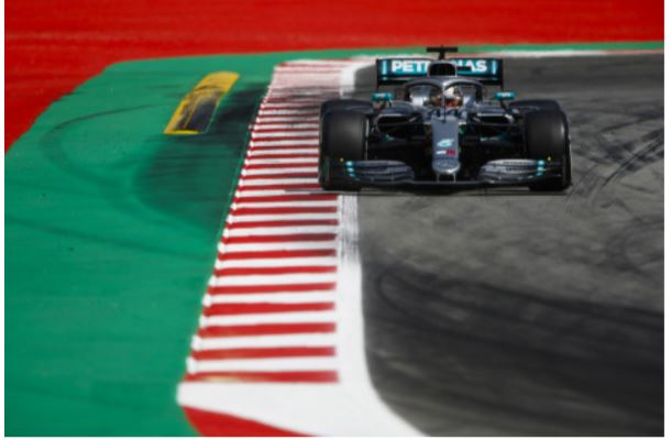 Mercedes AMG Petronas F1 Barcelona in season test day 1