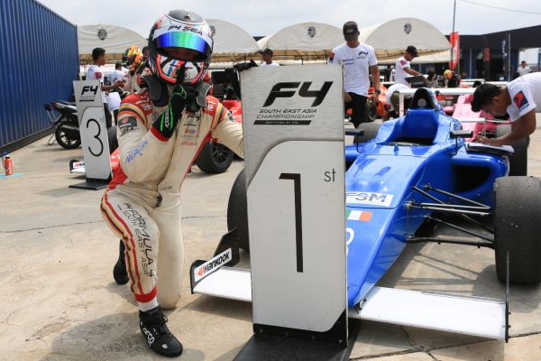 Allen leads all the way to snatch win in FIA F4 SEA Race 4 in Thailand