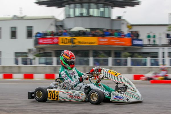 Tony Kart's Vigano on pole and podium at the KZ European