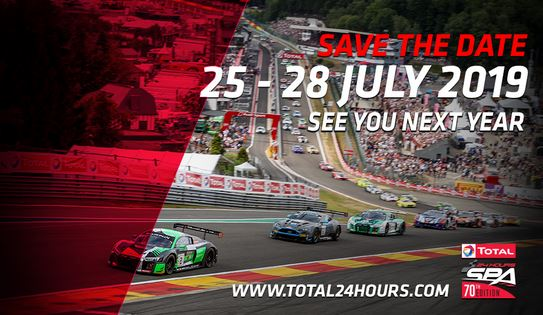 24 Hours of Spa Provisional timetable