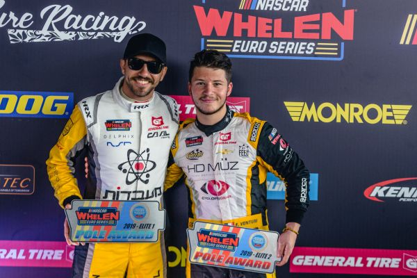 Alon Day and Florian Venturi on Nascar pole position in Italy