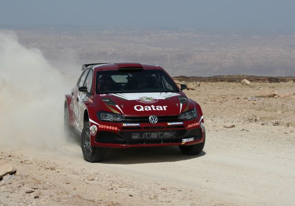 Jordan Rally leader Al-Attiyah lives up to expectations at the Dead Sea